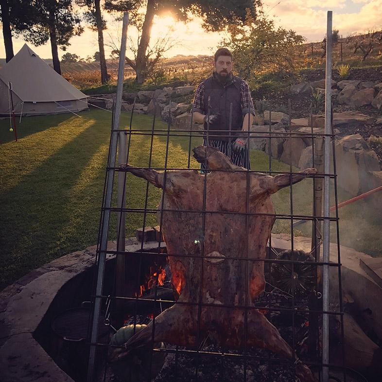 Fire pit roast