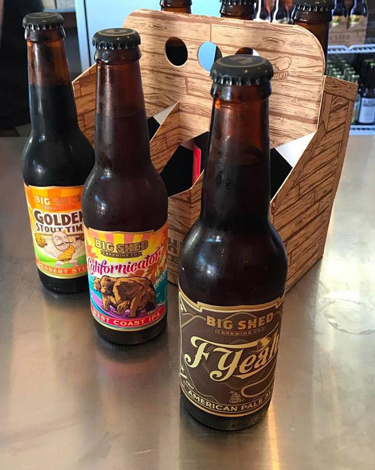 bottled varieties of Big Shed Beer