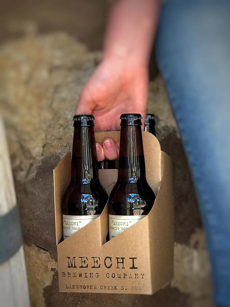 Bottles of Meechi beer
